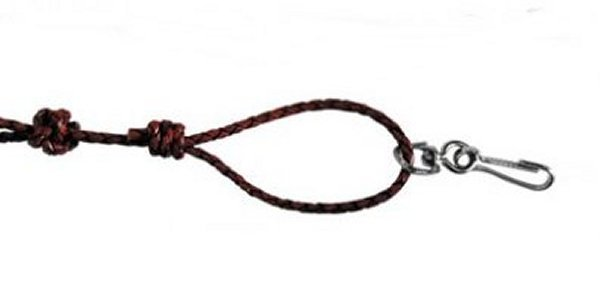 Wooven Leather Lanyard