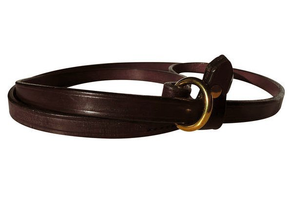 Leather Slip Lead (Dark Tan)
