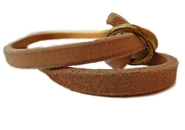 Leather Slip Lead (Natural Light Tan)